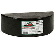 5.5lb. Black Wax Sharp Cheddar Split Midget