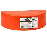 5.5lb. Red Wax Mild Cheddar Split Midget