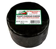 3lb. Black Wax Sharp Cheddar Gem