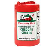 1lb Red Cryovac Mild Cheddar Midget